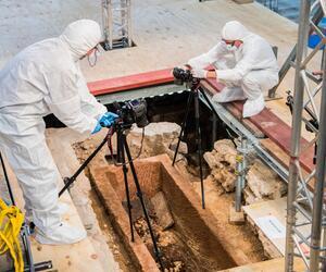 Sarkophag in Mainzer Johanniskirche geöffnet