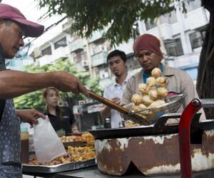 Straßenküchen in Bangkok