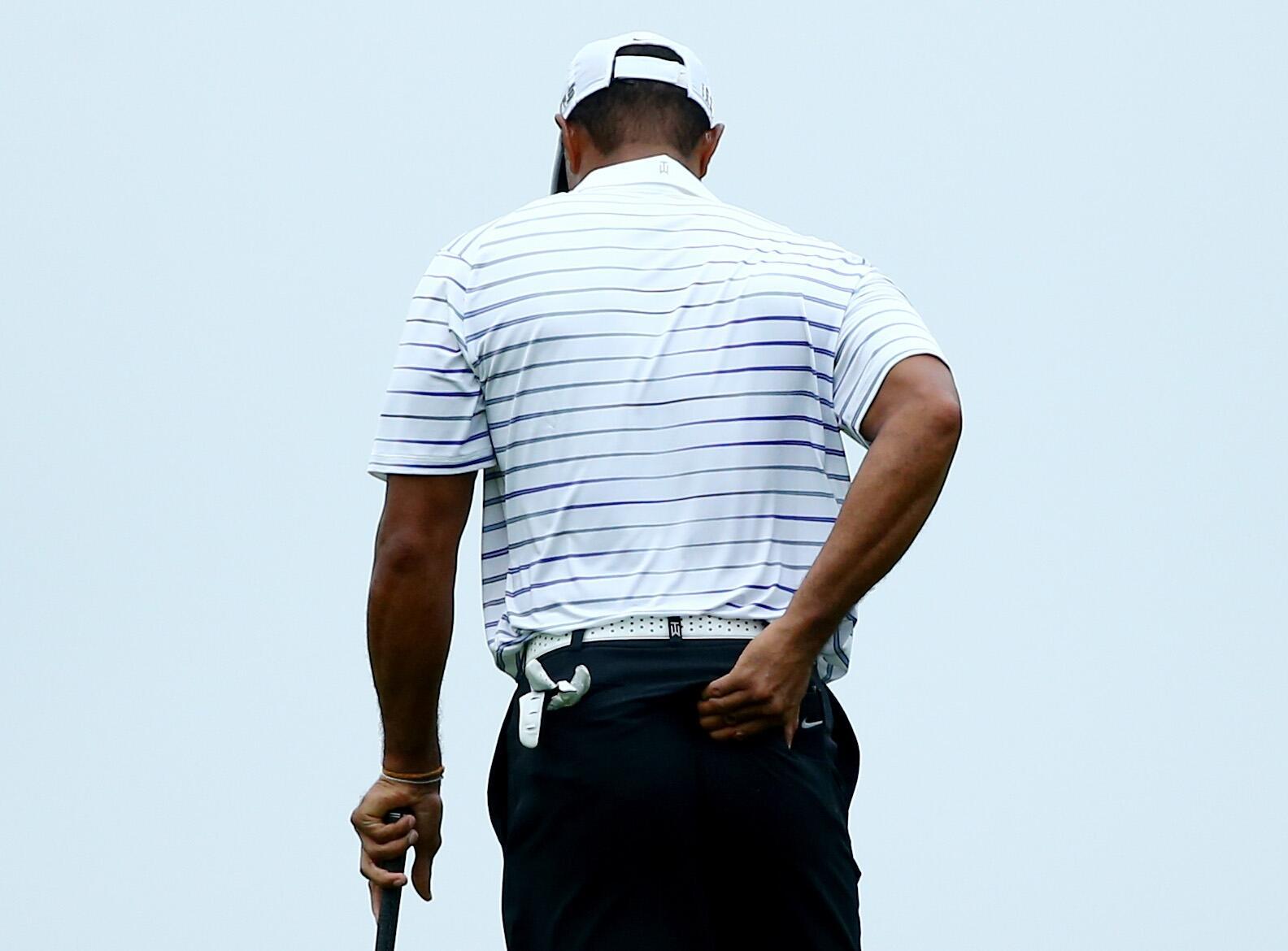 Bild zu Tiger Woods, PGA, Valhalla Golf Club, Louisville, Kentucky, USA, 2014, Rücken, Schmerzen