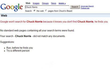 Bild zu Google und Chuck Norris