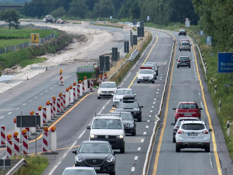Bild zu Autobahn-Baustelle