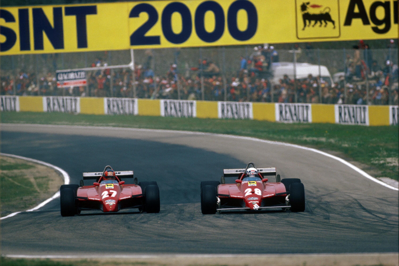 Bild zu Gilles Villeneuve, Didier Pironi, Ferrari, San Marino, Imola, 1982