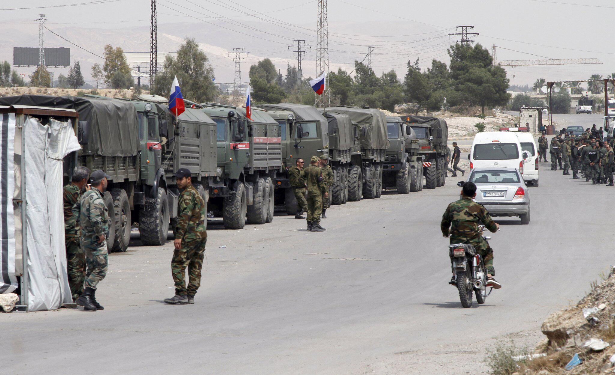 Bild zu Konflikt in Syrien - Russische Militärpolizei sichert Duma