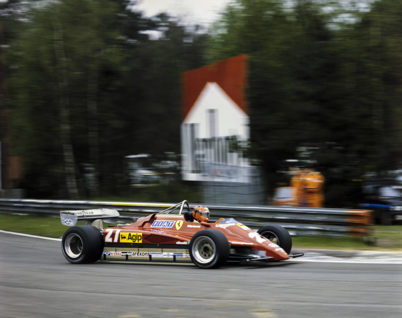 Bild zu Gilles Villeneuve, Formel 1, Ferrari, Zolder, Training, Belgien