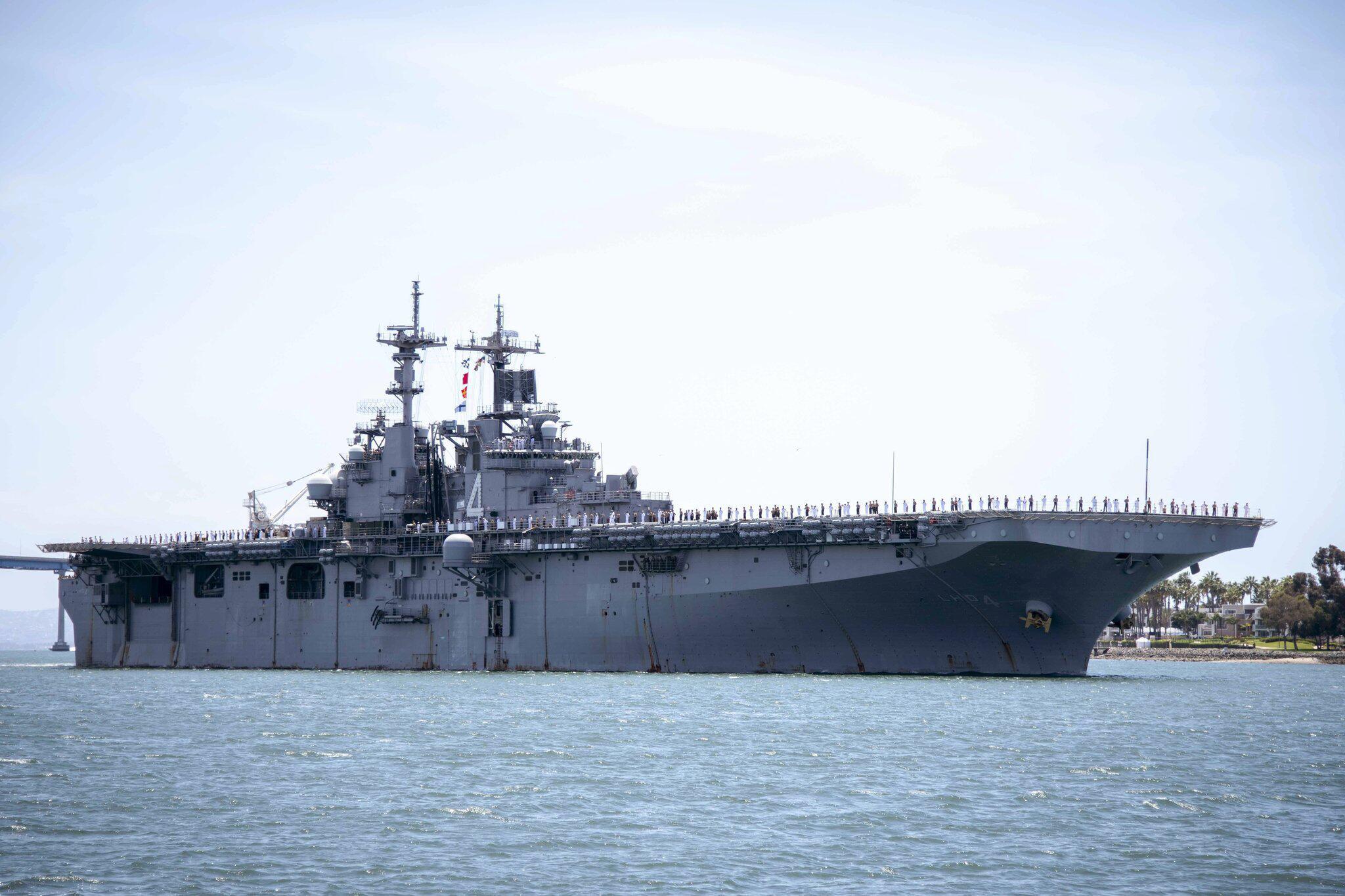 Bild zu Trump: US-Marineschiff hat iranische Drohne zerstört