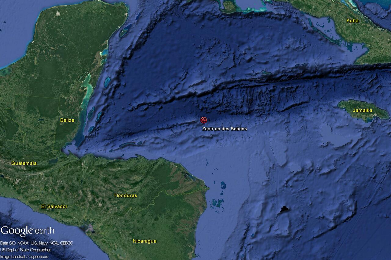 Bild zu Schweres Erdbeben erschüttert Honduras