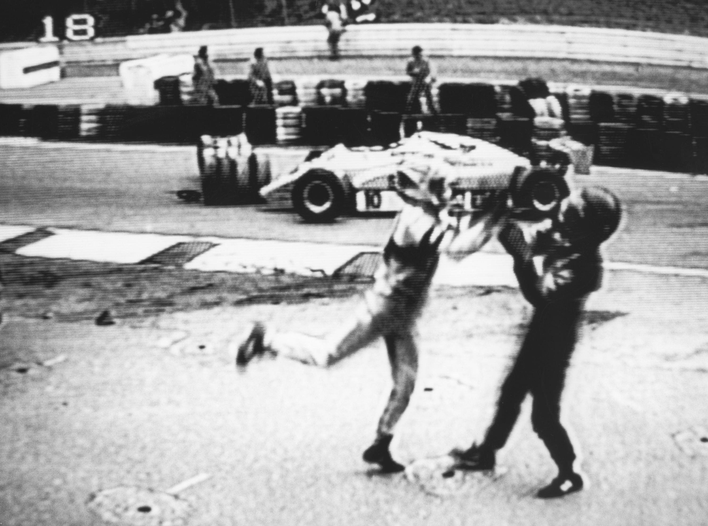 Bild zu Nelson Piquet, Eliseo Salazar, Hockenheimring, 1982, Großer Preis von Deutschland, Faustkampf