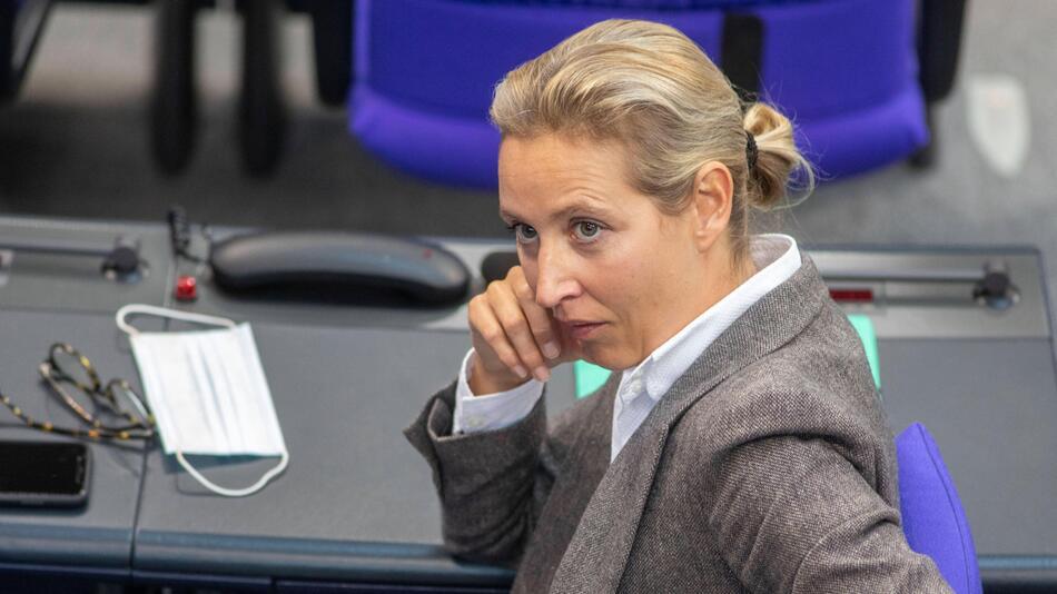 AfD-Politikerin Alice Weidel im Bundestag.