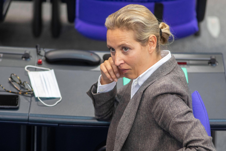 Bild zu AfD-Politikerin Alice Weidel im Bundestag.