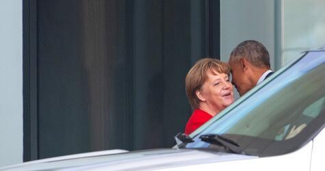 Barack Obama bei Kanzlerin Merkel