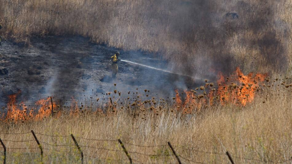 Brand nach Raketenbeschuss in Israel