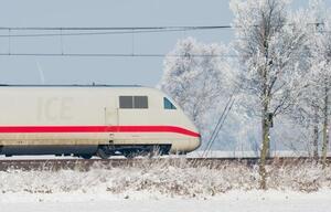 Deutschen Bahn im Winter