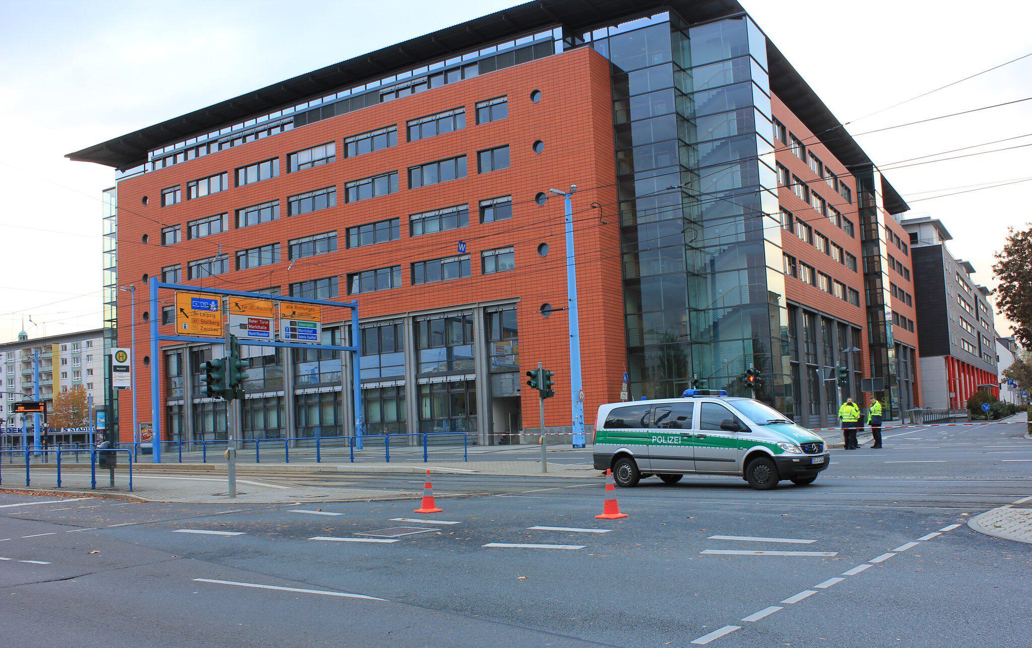 Bild zu Bombendrohung in Chemnitzer Innenstadt