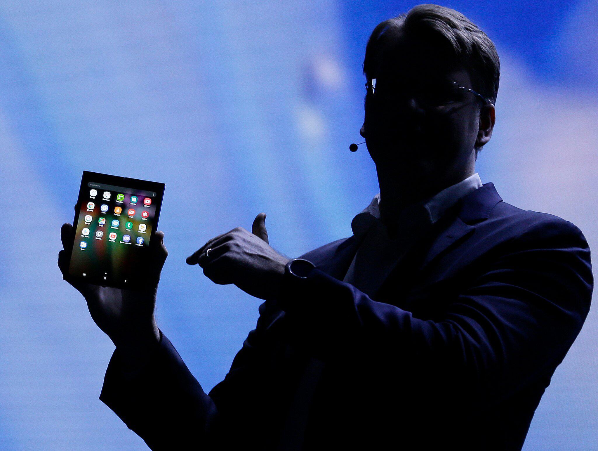 Bild zu Samsung stellt faltbares Display vor