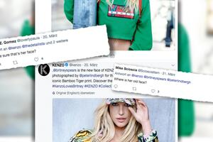 """Bild zu Britney Spears sorgt mit Werbefotos für das Fashionlabel """"Kenzo"""" für Aufsehen"""