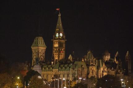 Parlamentsgebäude in Ottawa