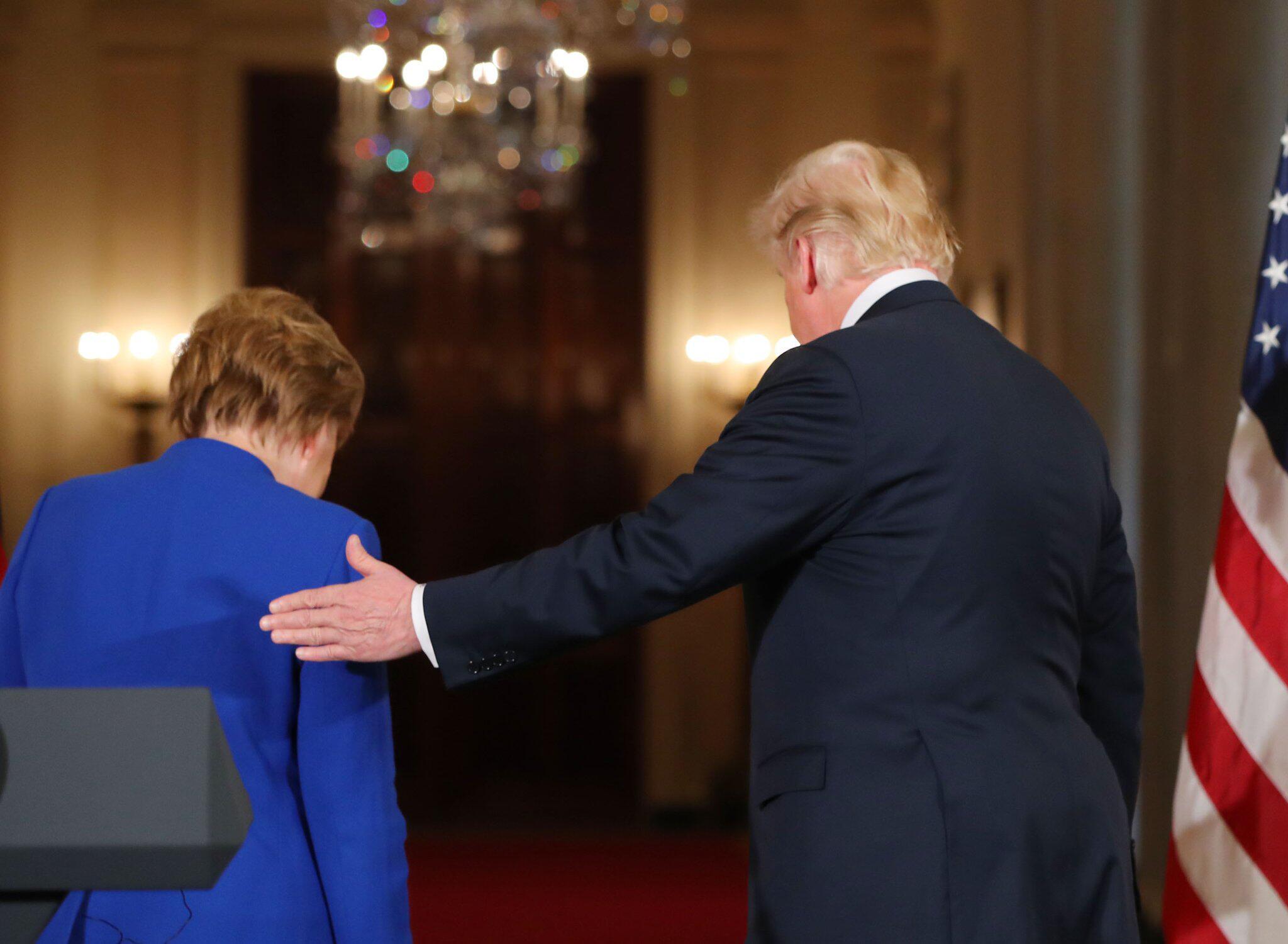 Bild zu Bundeskanzlerin Merkel trifft US-Präsident Trump
