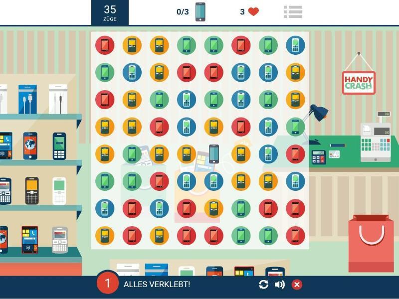 Bild zu Browser-Game «Handycrash»