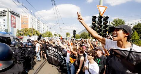 Demonstrationen zum 31. Todestag von Rudolf Heß