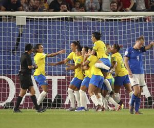 Frauenfußball-WM -Italien - Brasilien