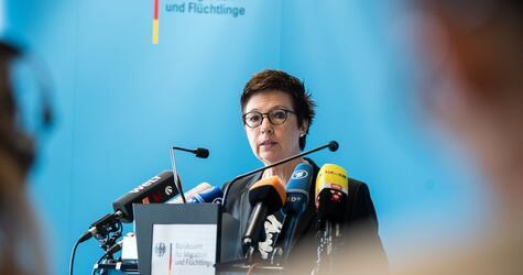 BAMF Press Conference - Jutta Cordt