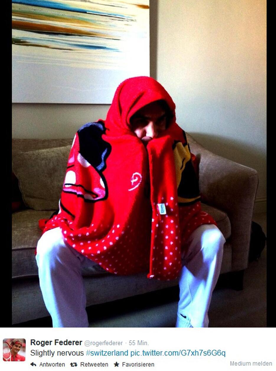 Bild zu Roger Federer leidet mit der Nati