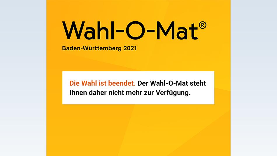 Bild zu Die Wahl in Baden-Württemberg 2021 ist beendet.