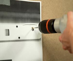 Lifehack: Einfacher Bohren mit Kopierschablone
