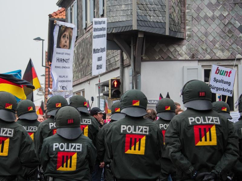 Bild zu Demonstrationen in Kandel