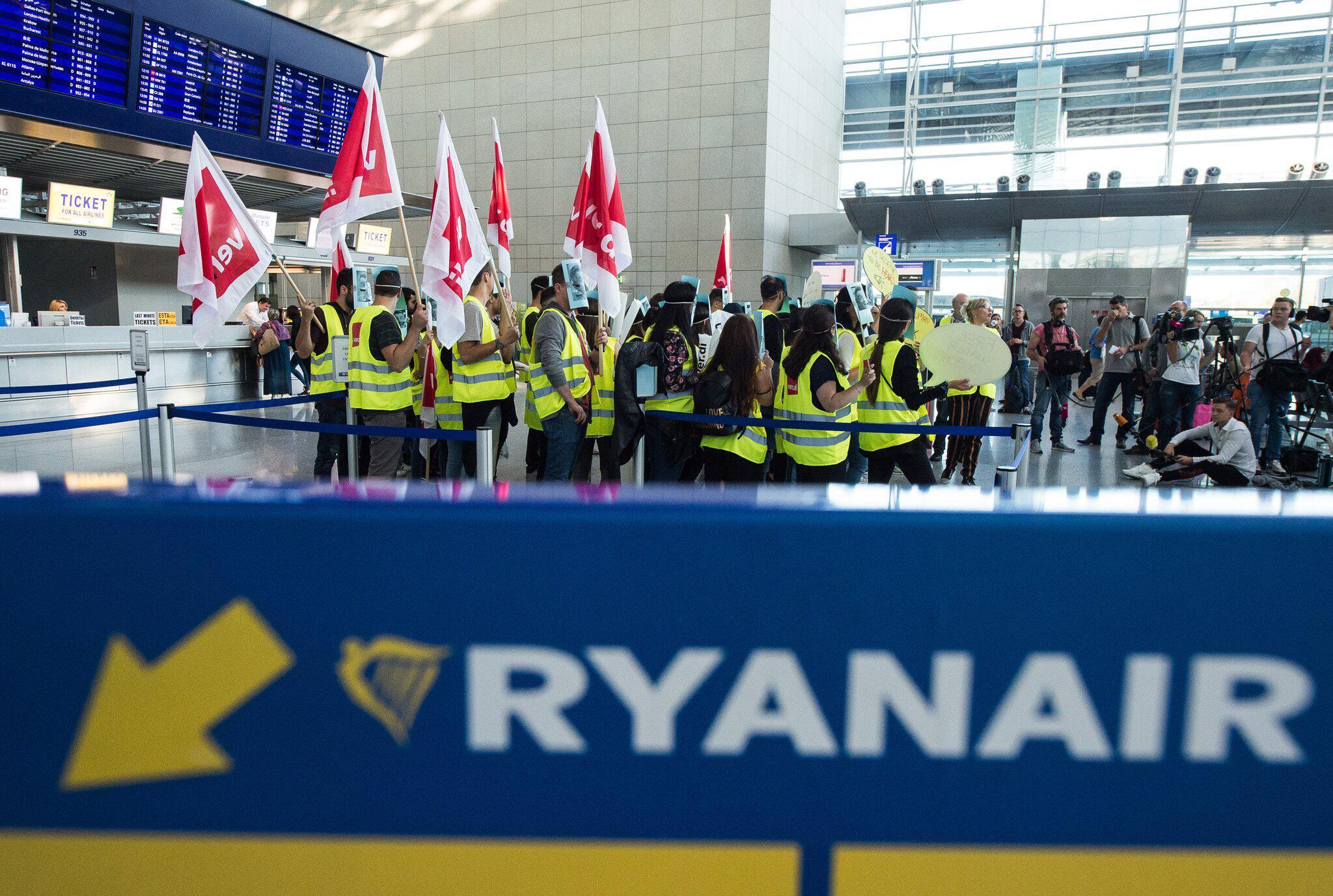 Bild zu Streik deutscher Ryanair-Mitarbeiter