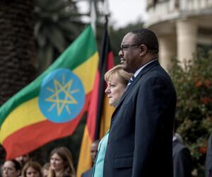 Merkel und Äthiopiens Präsident Desalegn