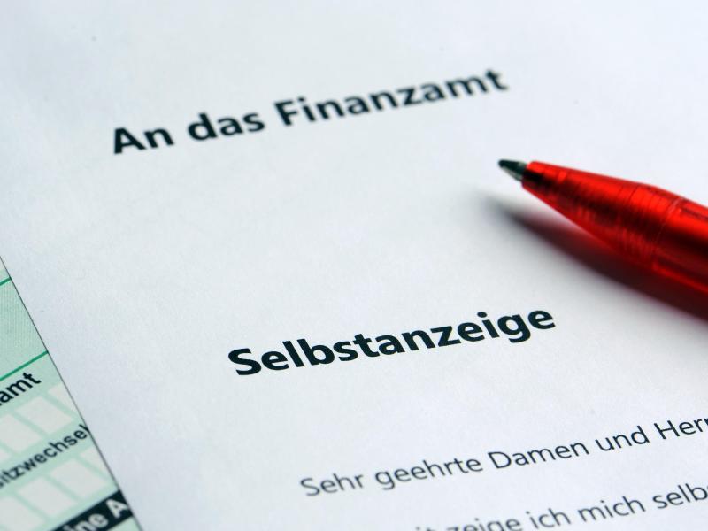 Bild zu Selbstanzeige bei Steuerbetrug