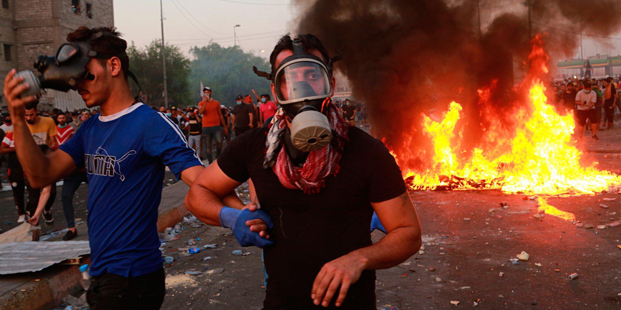 Bild zu Protest in Bagdad