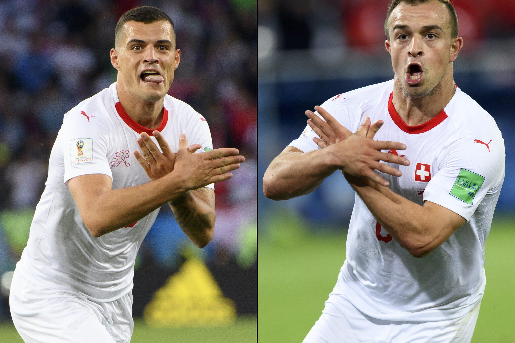 Bild zu WM 2018 - Granit Xhaka und Xherdan Shaqiri