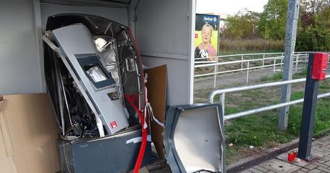 Explosion eines Fahrkartenautomaten