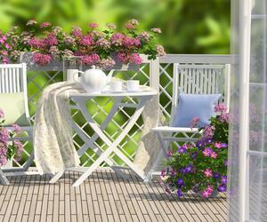Trendige Balkonmöbel für kleine und große Balkone.