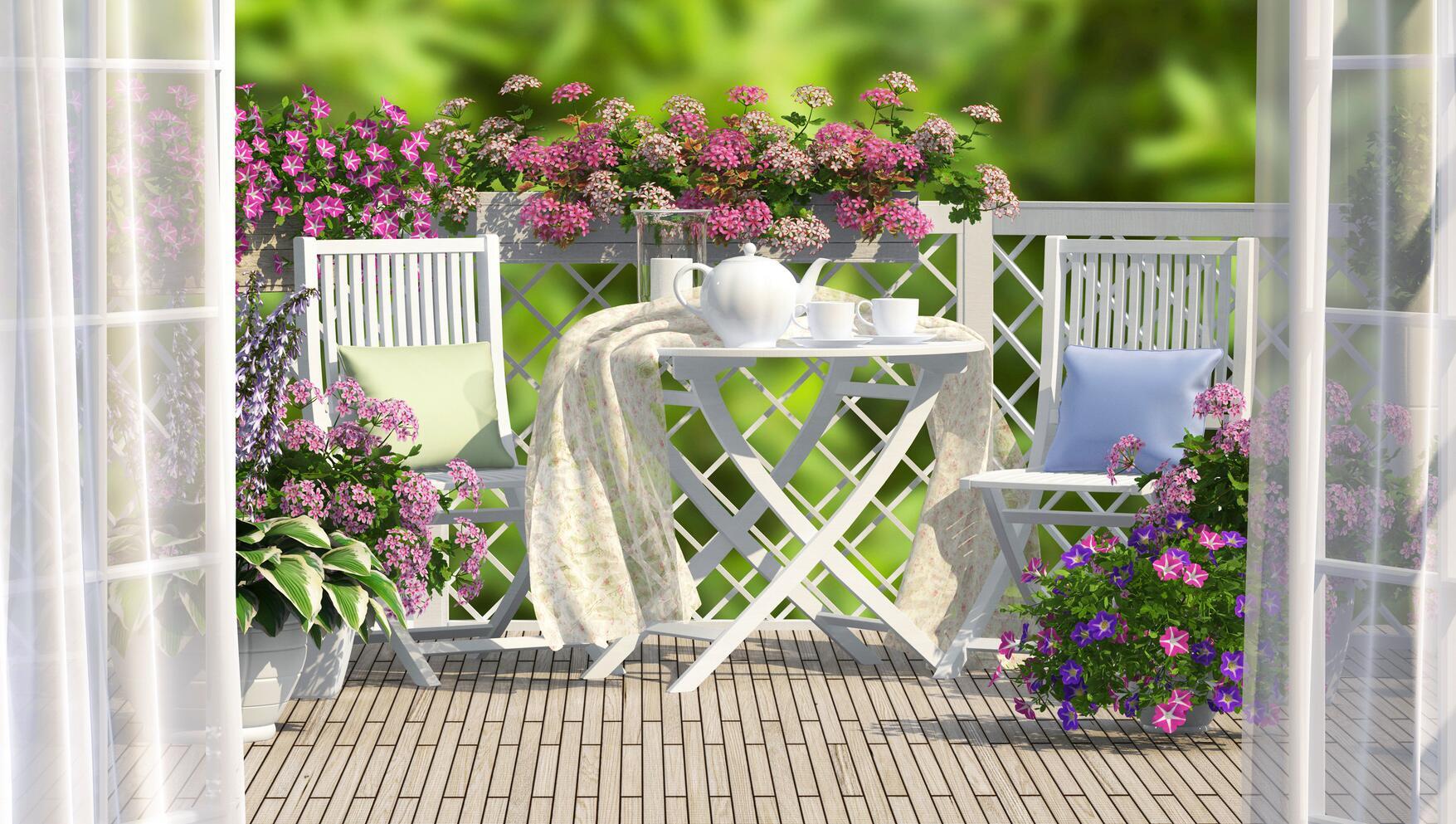 Bild zu Trendige Balkonmöbel für kleine und große Balkone.