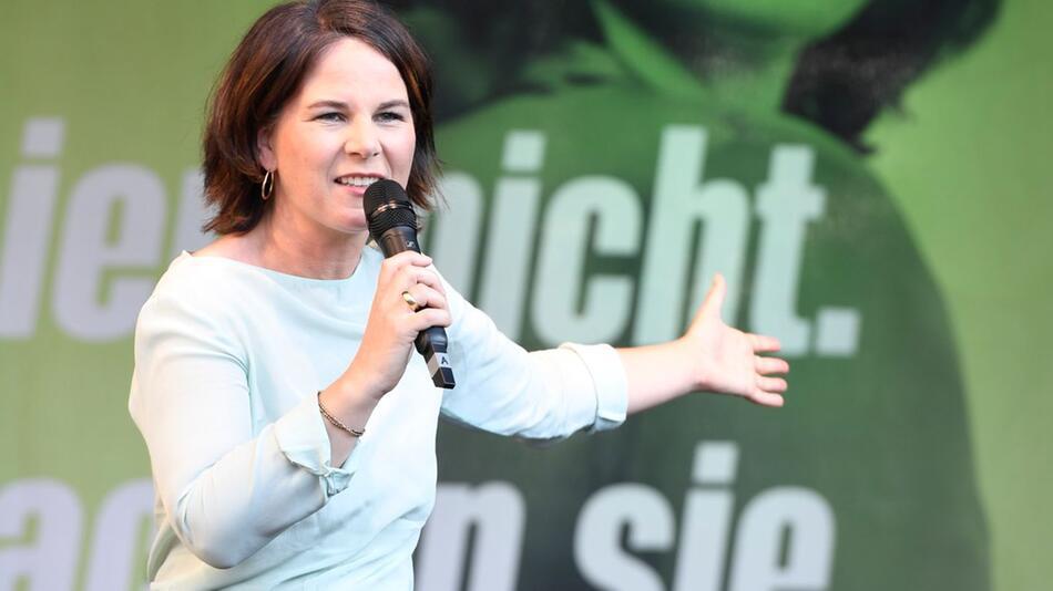 Wahlkampf Bündnis 90/Die Grünen mit Baerbock