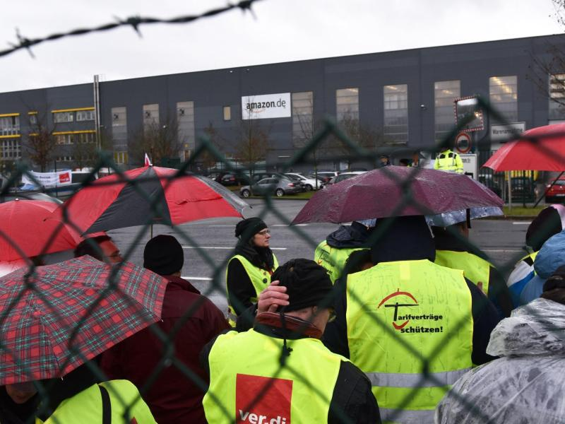Bild zu Streik Amazon Bad Hersfeld