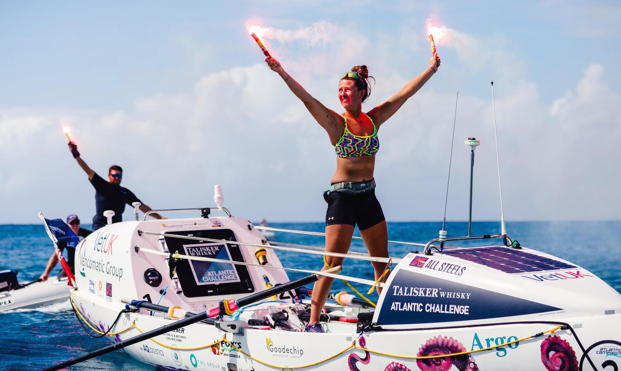 Bild zu 21-jährige Britin überquert als jüngste Frau allein den Atlantik