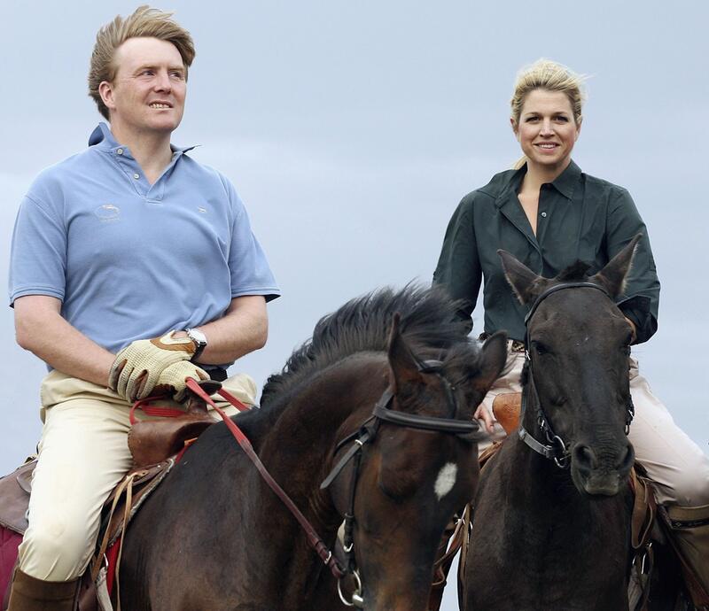 Bild zu Passioniertes Reiterpaar Willem-Alexander und Máxima