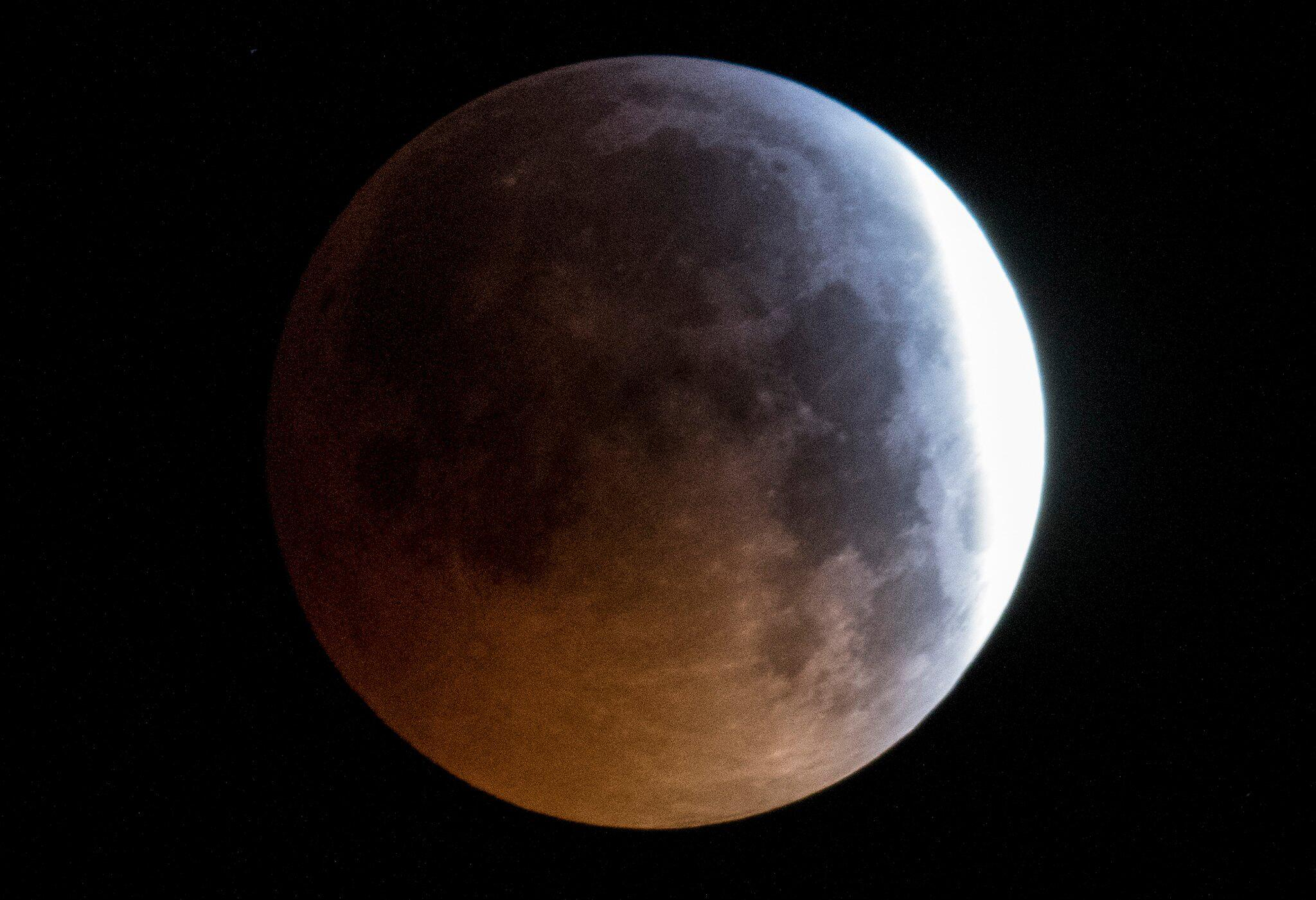 Bild zu Totale Mondfinsternis - Hessen