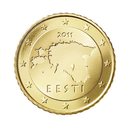 Bild zu 50-Cent-Münze aus Estland