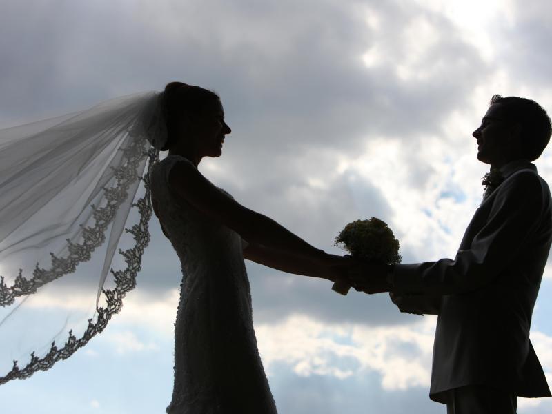 Bild zu Hochzeitspaar