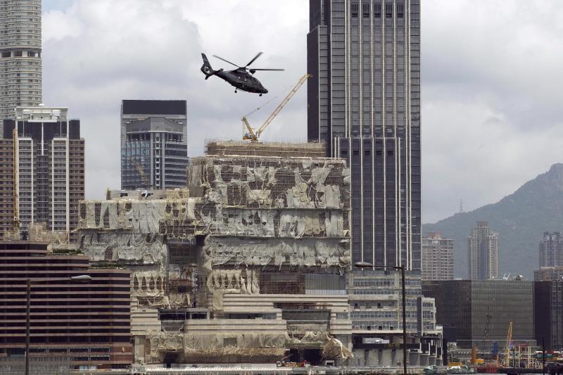 Nach dem Taifun Hato in Hongkong