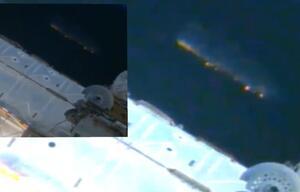 US-Ufologen wollen riesiges Alien-Schiff neben ISS entdeckt haben