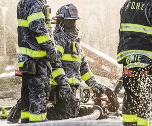Gebäudebrand in der Bronx