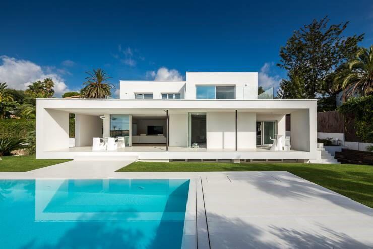 Traumhaus modern mit pool  Mini-Haus: Wohnen auf 30 Quadratmetern
