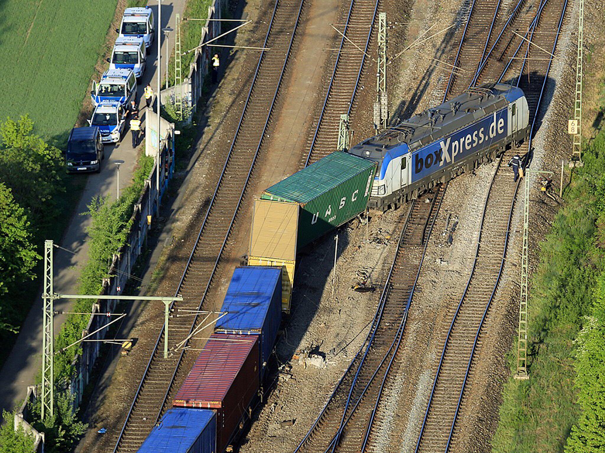 Bild zu Güterzug in München entgleist