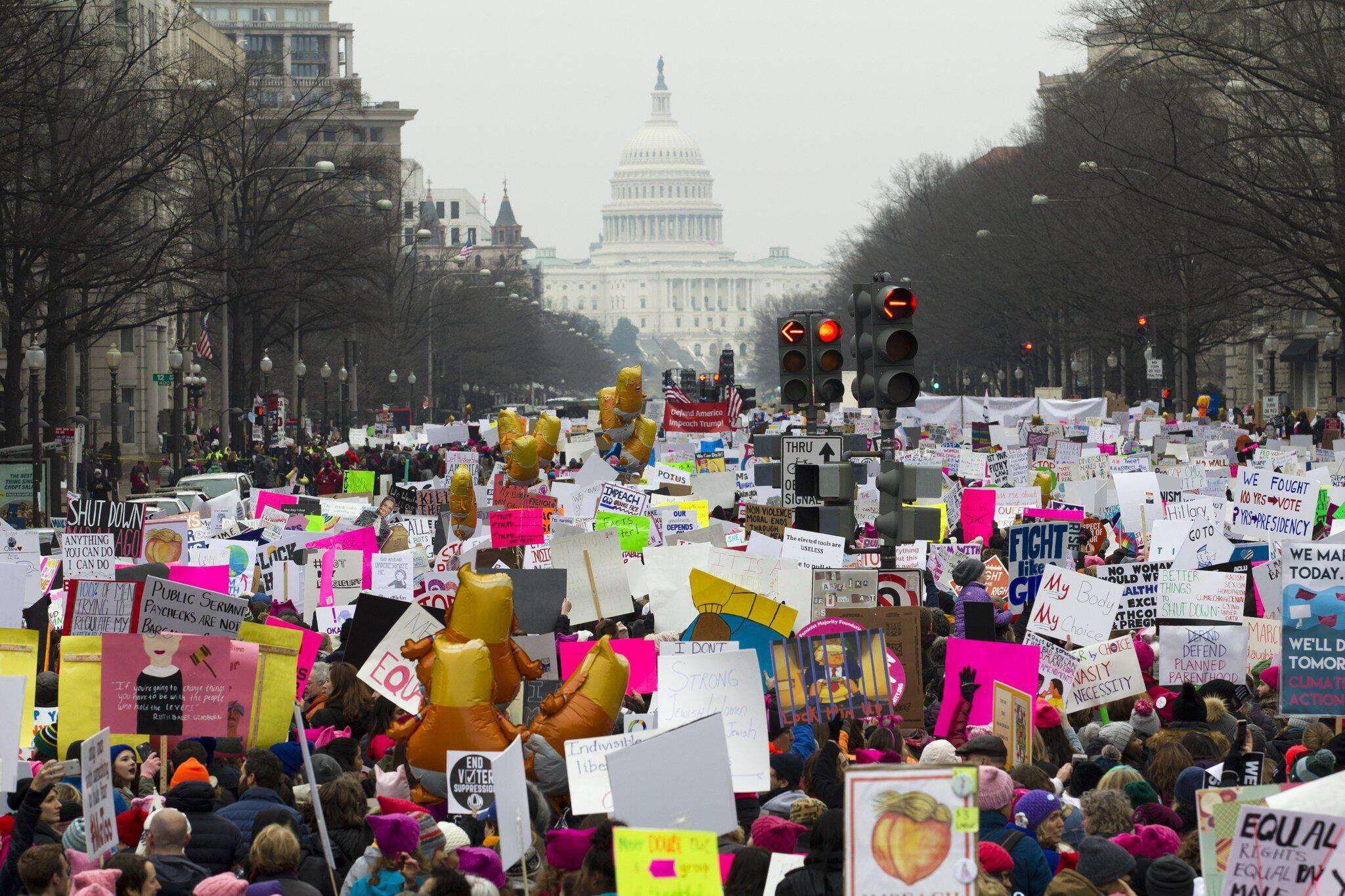 Bild zu Women's March in Washington